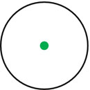 Retícula Punto verde 5 MOA iluminado