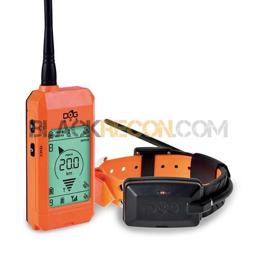 Diferentes colores de mandos y collares GPS Dogtrace para perros de caza