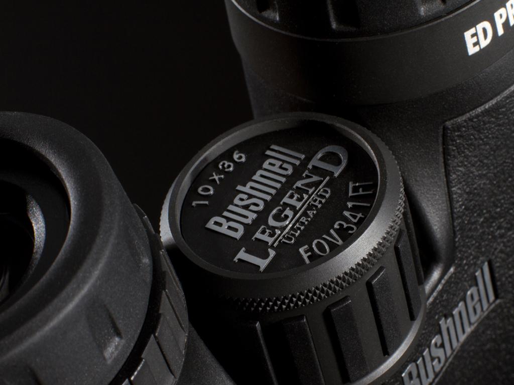 Imagen frontal del prismático Bushnell Legend