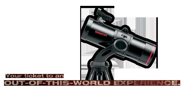 Mensaje promocional de Telescopios Tasco