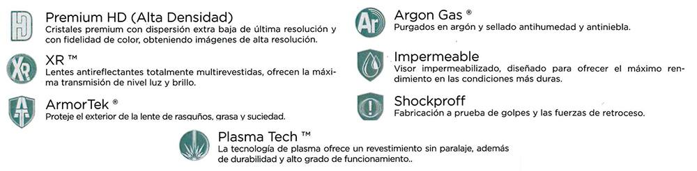 Especificaciones del visor Vortex
