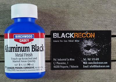 aluminium black pavonador aluminio