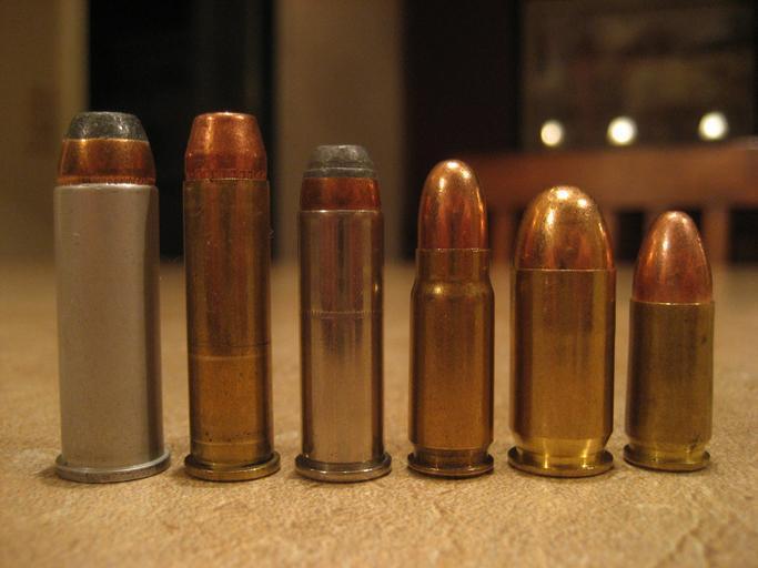 Diferentes calibres magnum