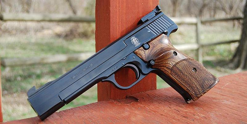 Pistola smith wesson calibre 22 modelo 41