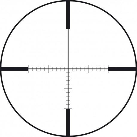 Retícula táctica visor francotirador