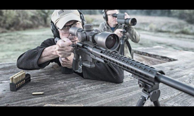 Rifle Remington con visor PRS