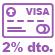 Icono descuento promocion pago tarjeta